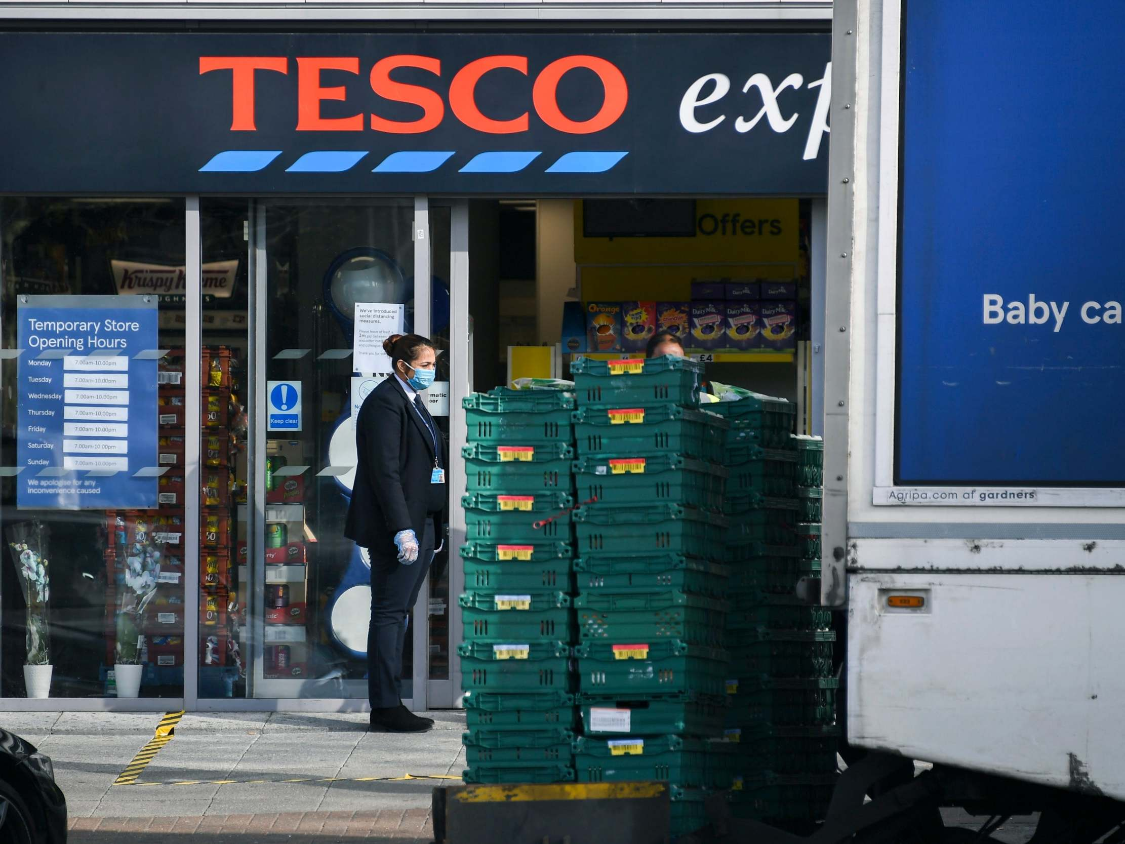 Coronavirus: Tesco tells shoppers to visit stores because there 'isn't enough capacity' for delivery