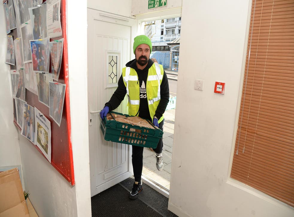 <p>Evgeny Lebedev making deliveries for The Felix Project</p>
