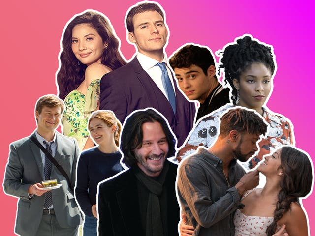 Love fractionally: Netflix romcoms (clockwise, from top left) 'Love Wedding Repeat', 'The Perfect Date', 'The Incredible Jessica James', 'Someone Great', 'Always Be My Maybe', and 'Set It Up'