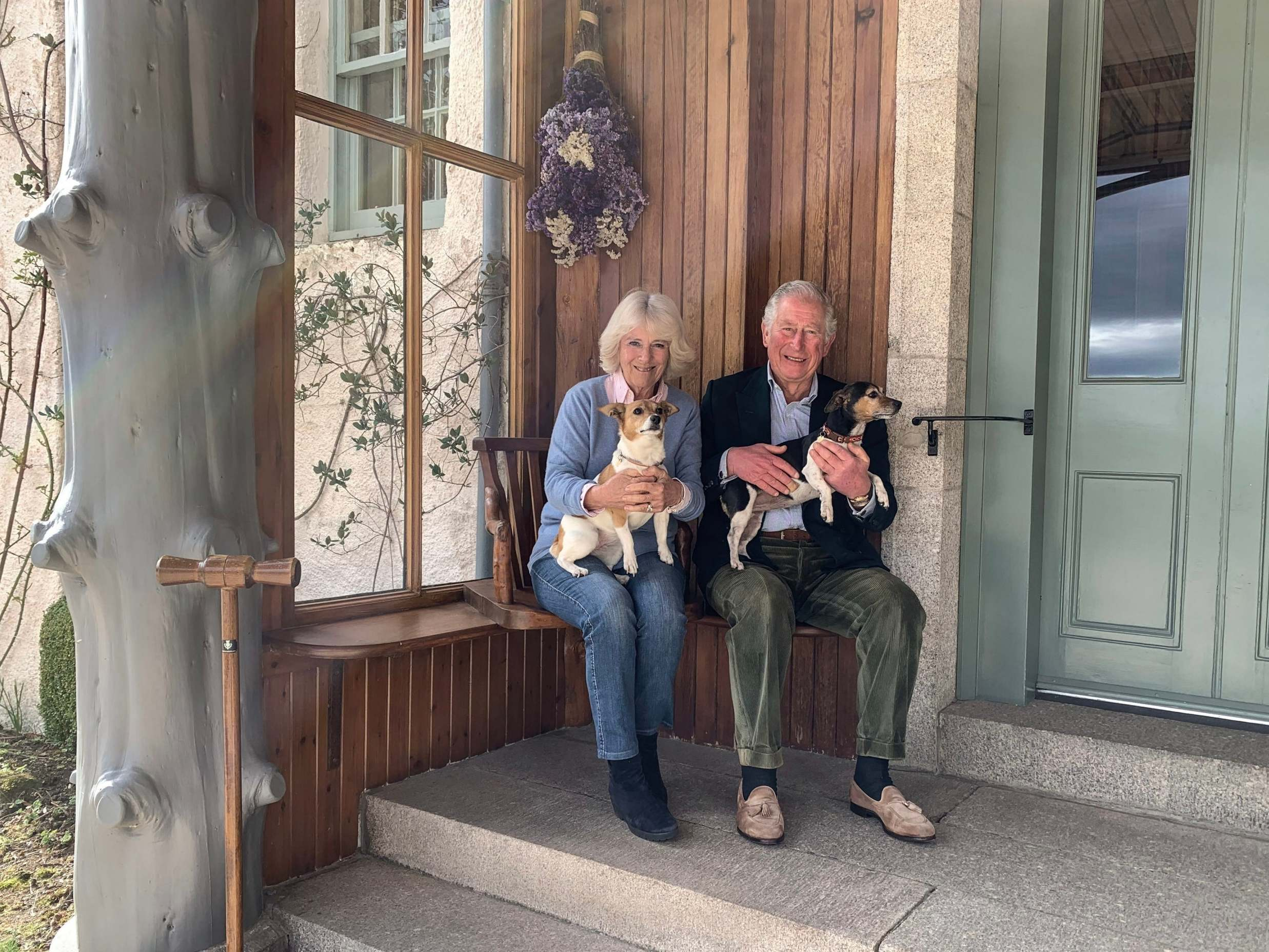 Prince Charles and Camilla mark 15th anniversary with new photograph holding their dogs