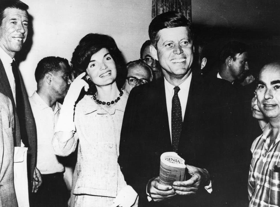 John F Kennedy Senator for Massachusetts with his wife, Jacqueline