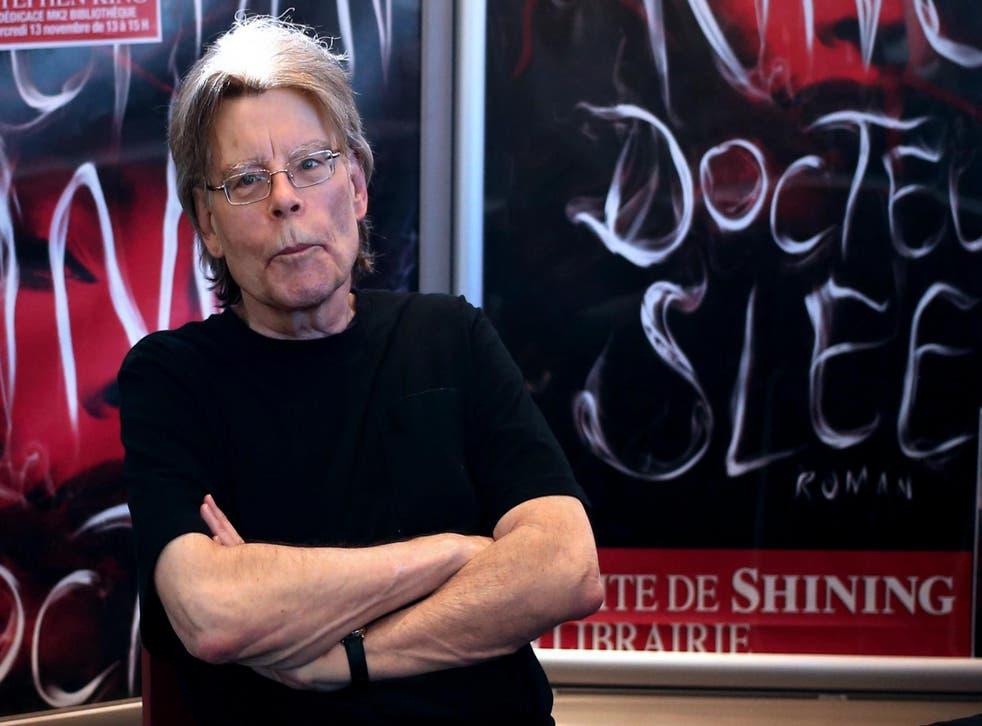 Stephen King on 13 November 2013 in Paris, France.