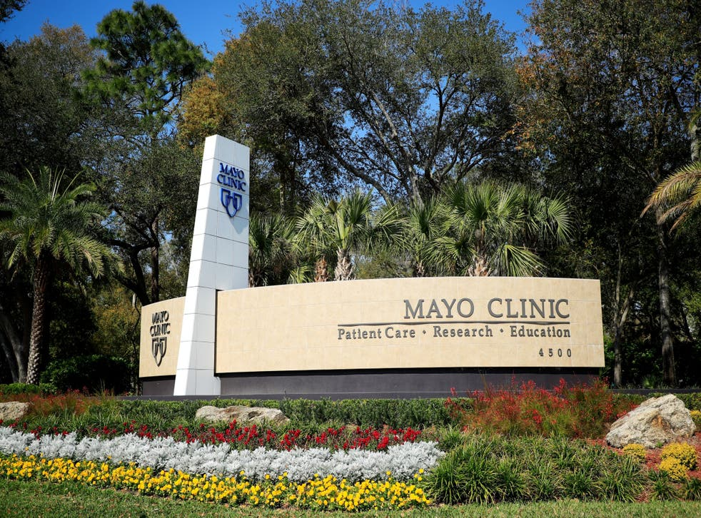 The entrance for the Jacksonville campus of the Mayo Clinic on March 15, 2020 in Jacksonville, Florida.