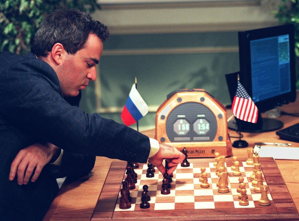 Garry Kasparov takes on IBM's Deep Blue supercomputer in 1997