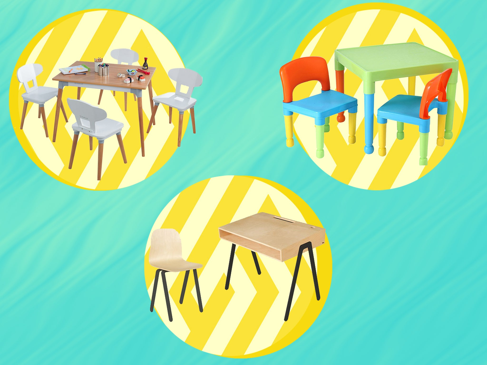 Image of: Best Kids Table And Chairs Sets To Encourage Learning And Creativity During Lockdown The Independent