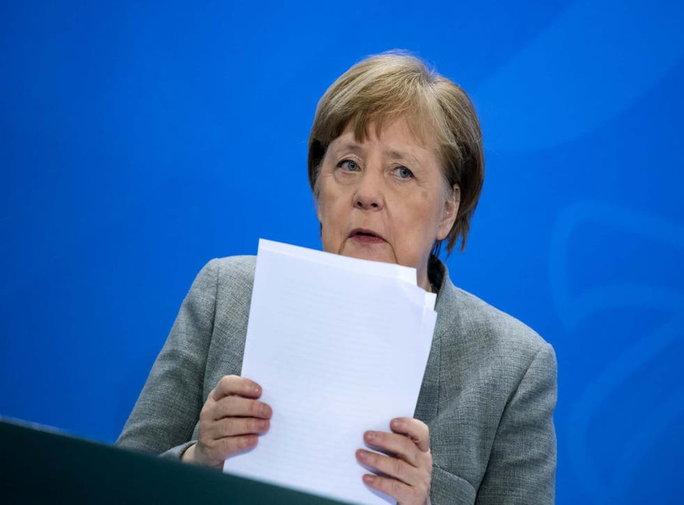 Merkel announced first steps in undoing coronavirus restrictions that have plunged the German economy into a recession