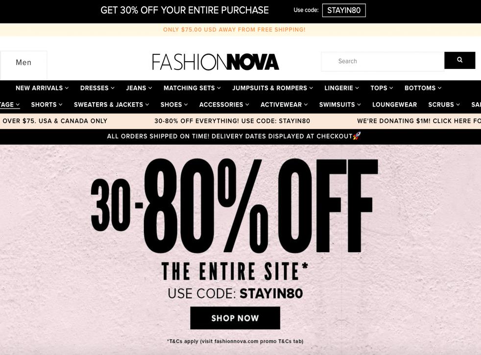 Fashion Nova faces backlash after stimulus check promotion (Fashion Nova)