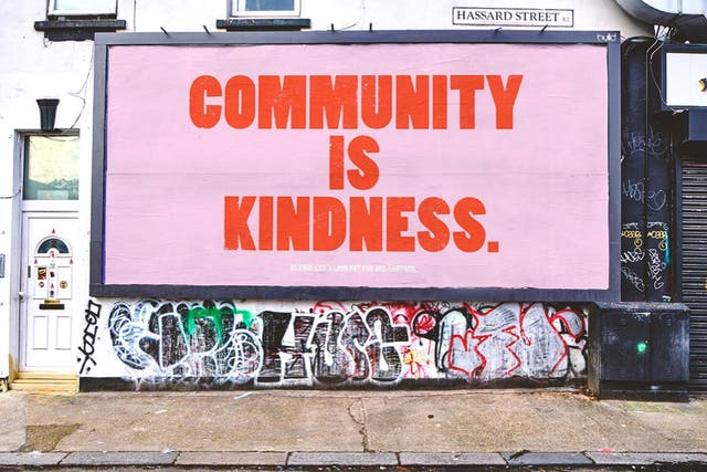 The Community is Kindness poster is making waves