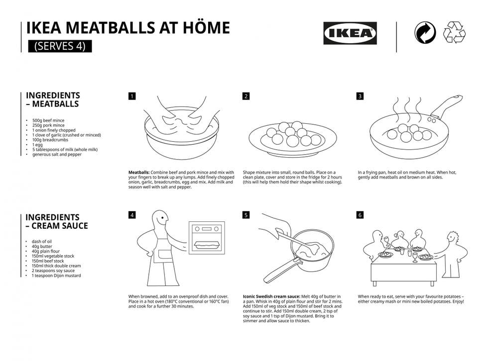Ikea Shares Recipe For Its Famous Swedish Meatballs For Fans To Make At Home The Independent The Independent