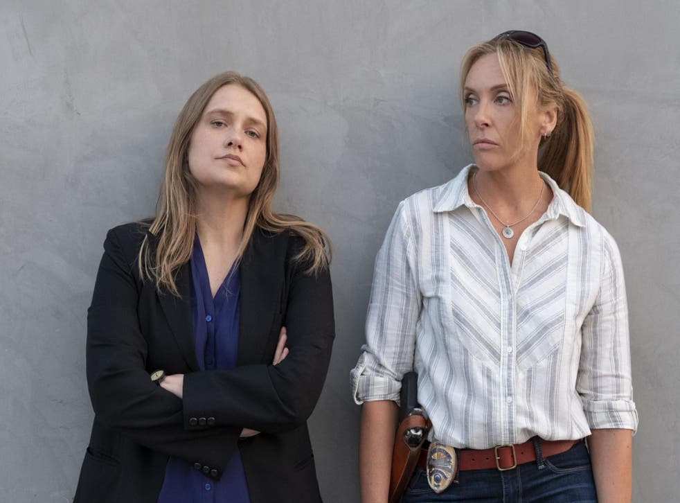 Merritt Wever and Toni Collette in Netflix's 'Unbelievable'.
