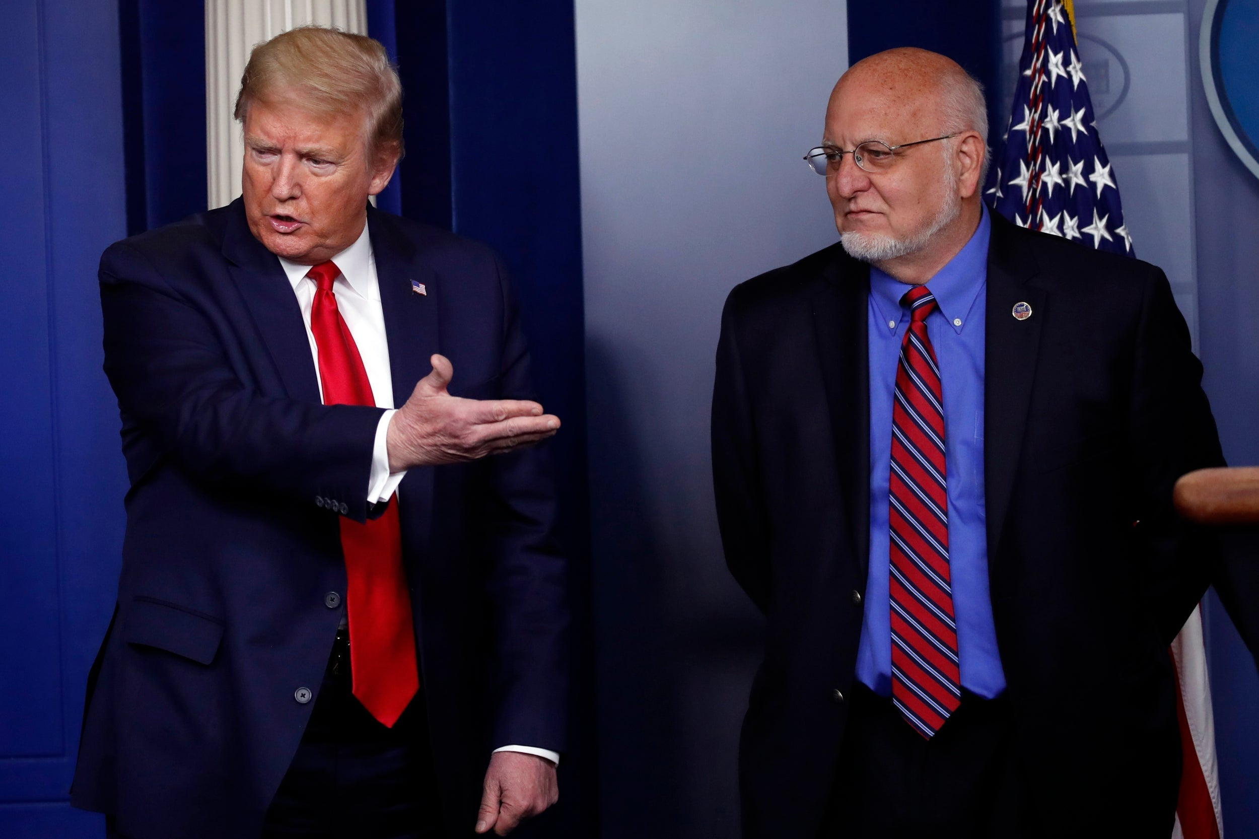 Trump news – live: President claims coronavirus 'may never come back' as Fauci predicts it could linger until autumn and medical chief says he was removed for questioning hydroxychloroquine thumbnail
