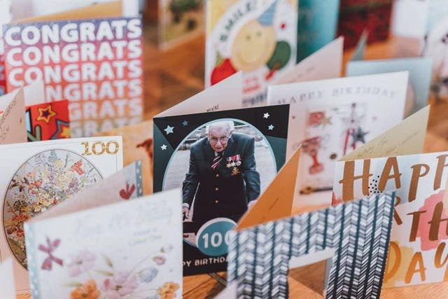 Captain Tom Moore has received more than 140,000 birthday cards from members of the public