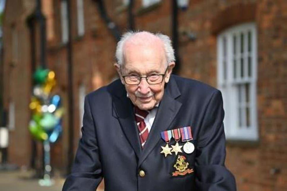 Captain Tom Moore Receives Pride of Britain Award for Raising £28m for NHS