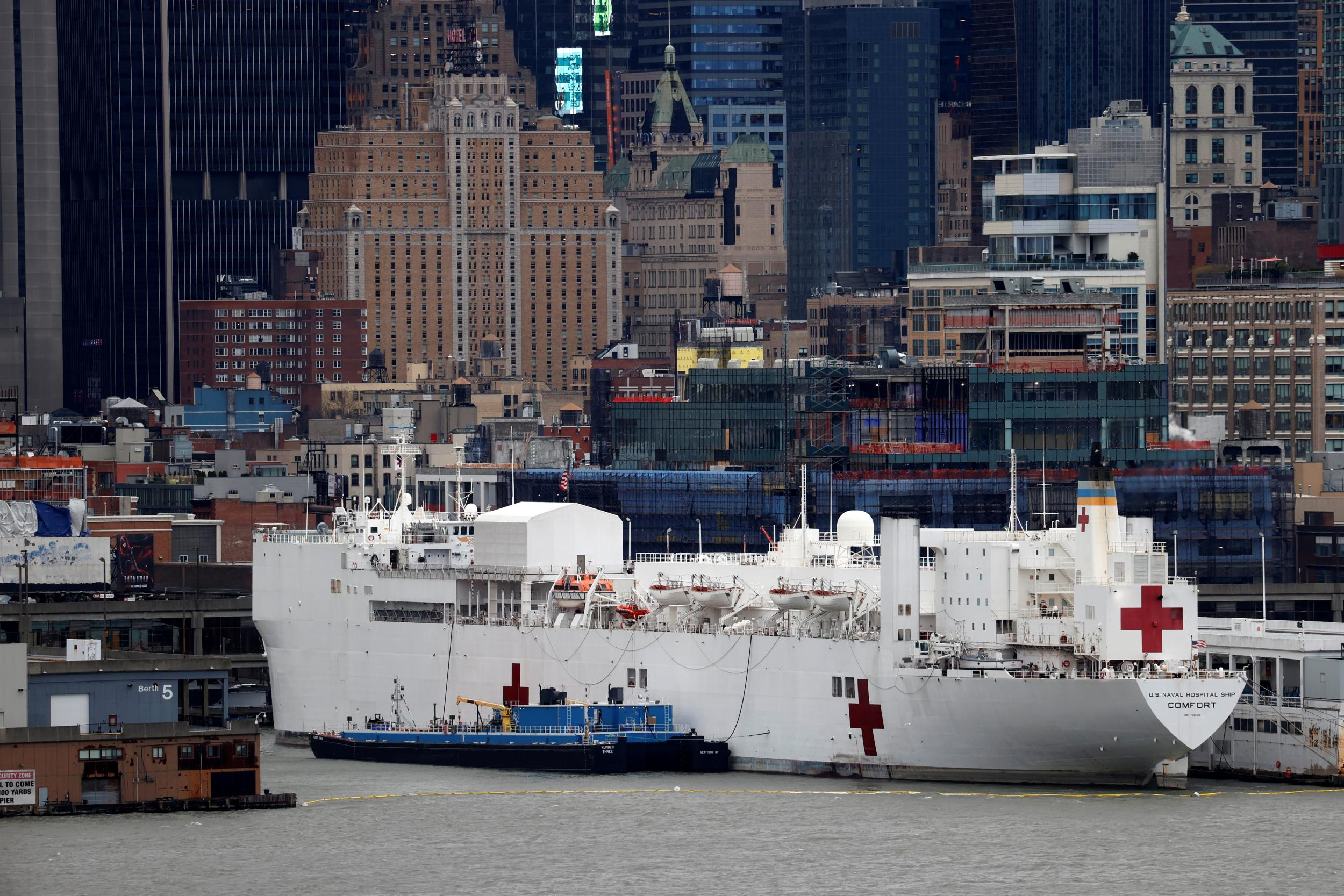 Coronavirus: Navy Hospital ship to leave New York after treating 179 Covid-19 patients in three weeks thumbnail