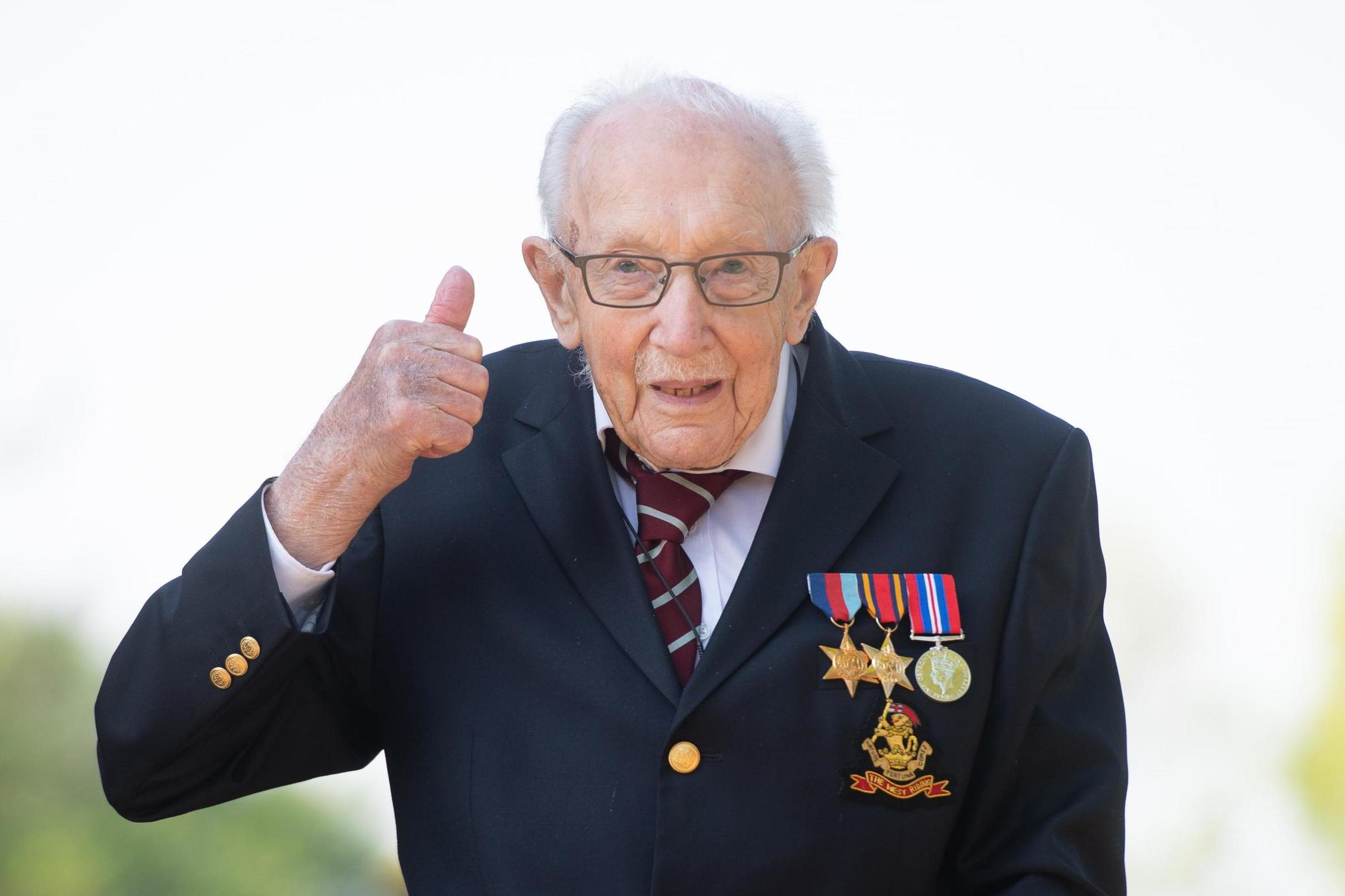 Captain Tom Moore becomes oldest artist with UK number one single thumbnail