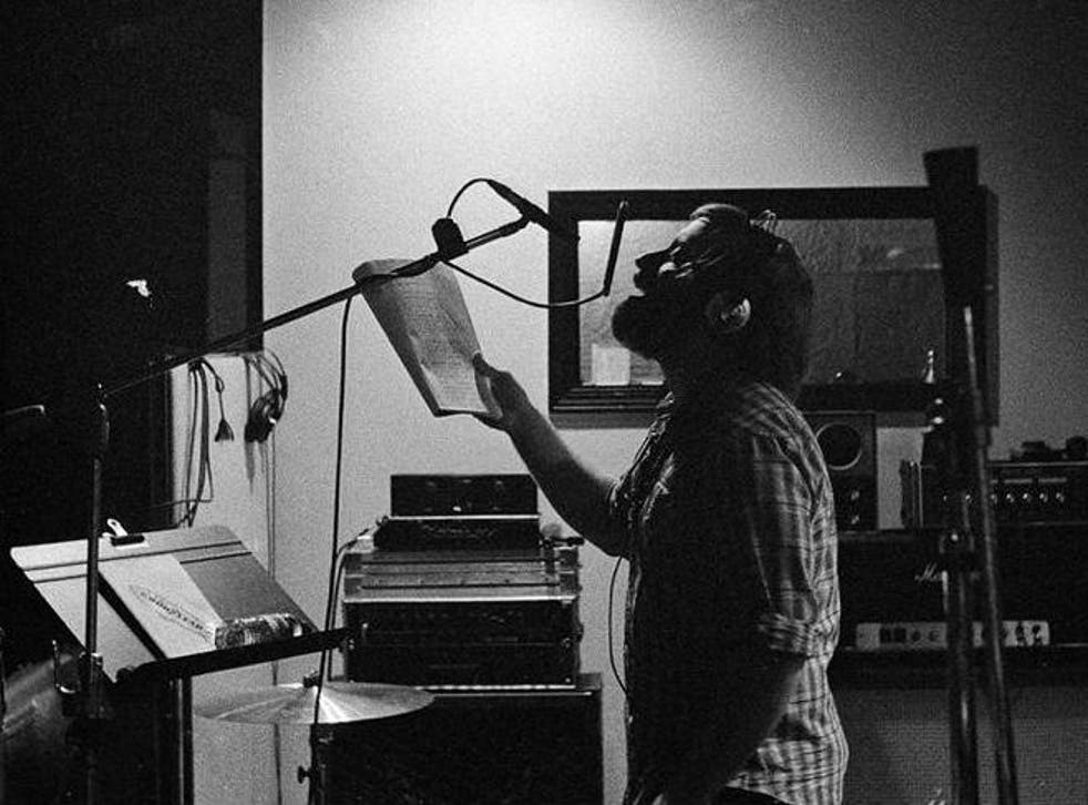 Dan Auerbach of The Black Keys lays down a vocal take in Muscle Shoals Sound Studio, Alabama