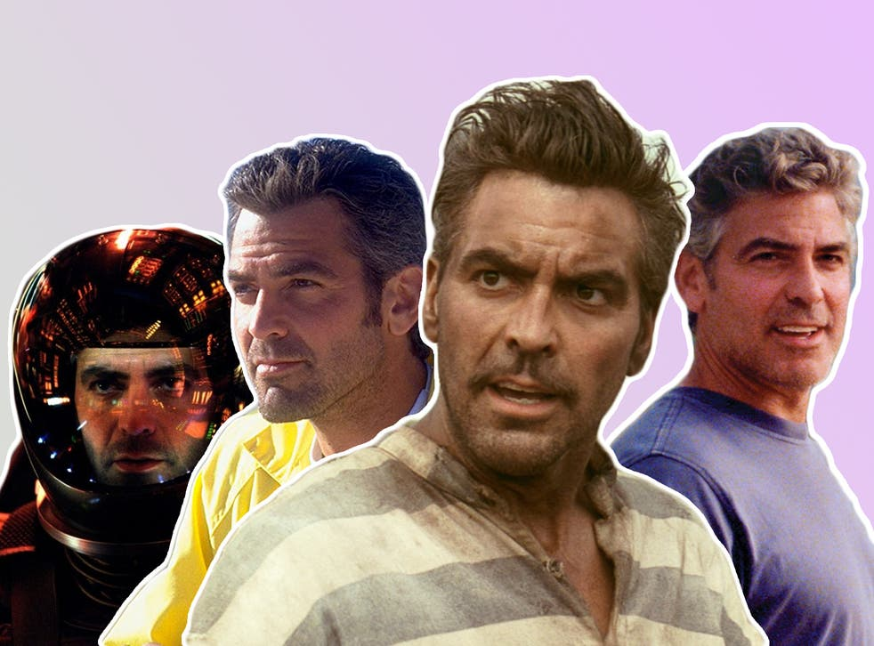 Transformative: George Clooney in (from left) 'Solaris', 'Out of Sight', 'O Brother, Where Art Thou?' and 'The Descendants'