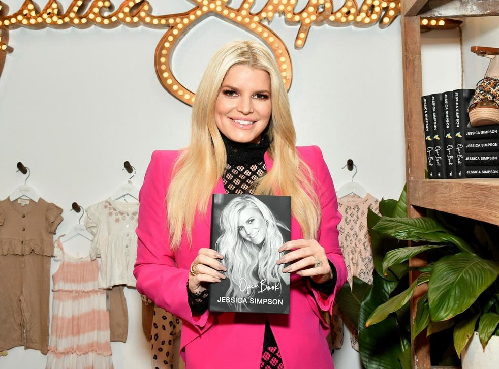 Jessica Simpson with a copy of her 'Open Book'