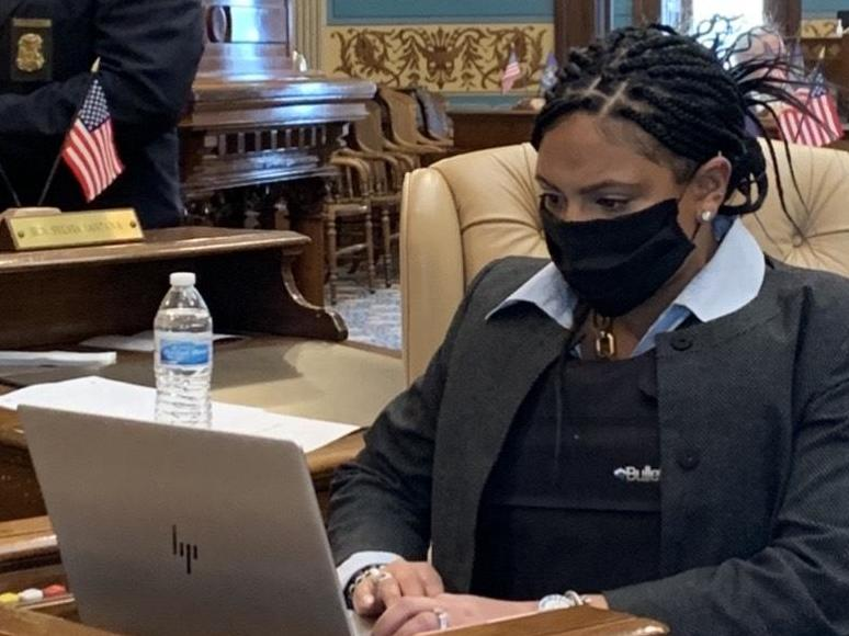 Michigan politicians wear bulletproof vests as armed protesters storm Capitol to protest stay-at-home orders photo