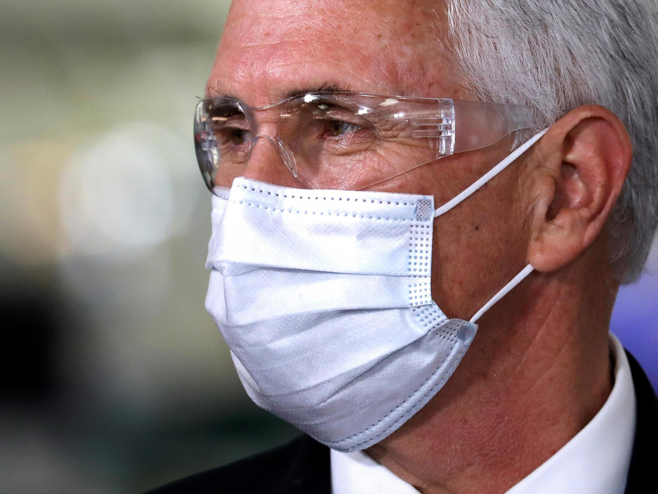 Reporter who contradicted Mike Pence's wife on face mask dispute banned from future trips photo