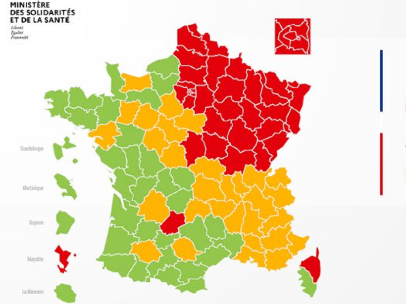 Coronavirus: France gets 'green, yellow and red zones' to help guide lockdown easing  photo