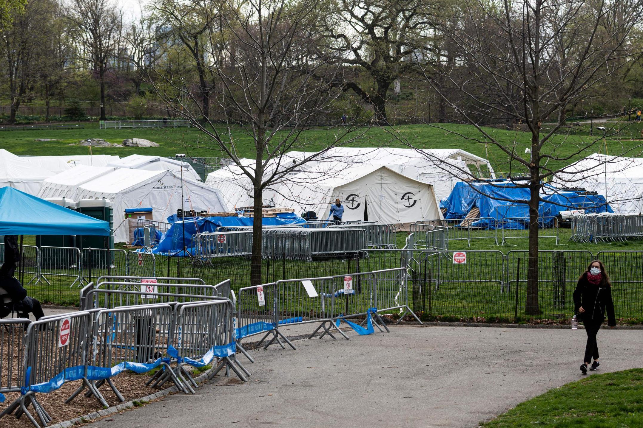 Coronavirus: New York City's temporary Central Park field hospital is set to close as Covid-19 cases decline photo