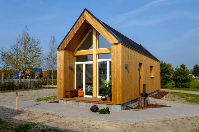 A so-called tiny house: a cheap and simple one-room dwelling