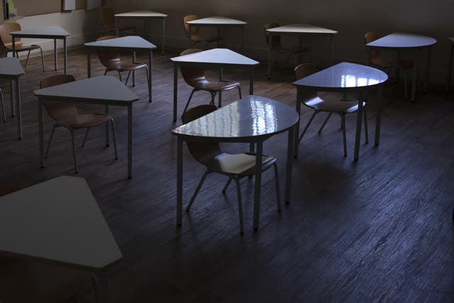 An empty classroom during the coronavirus pandemic — how will schools adapt to new realities when they reopen later this year?
