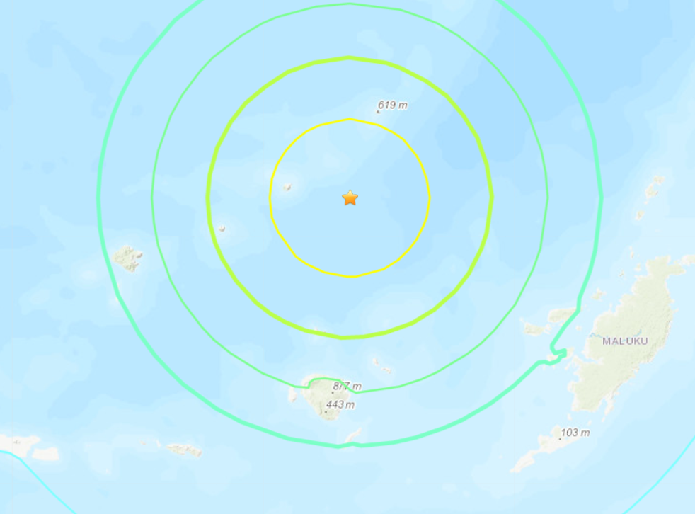 The quake struck in the Banda sea, with tremors felt on the surrounding Indonesian islands