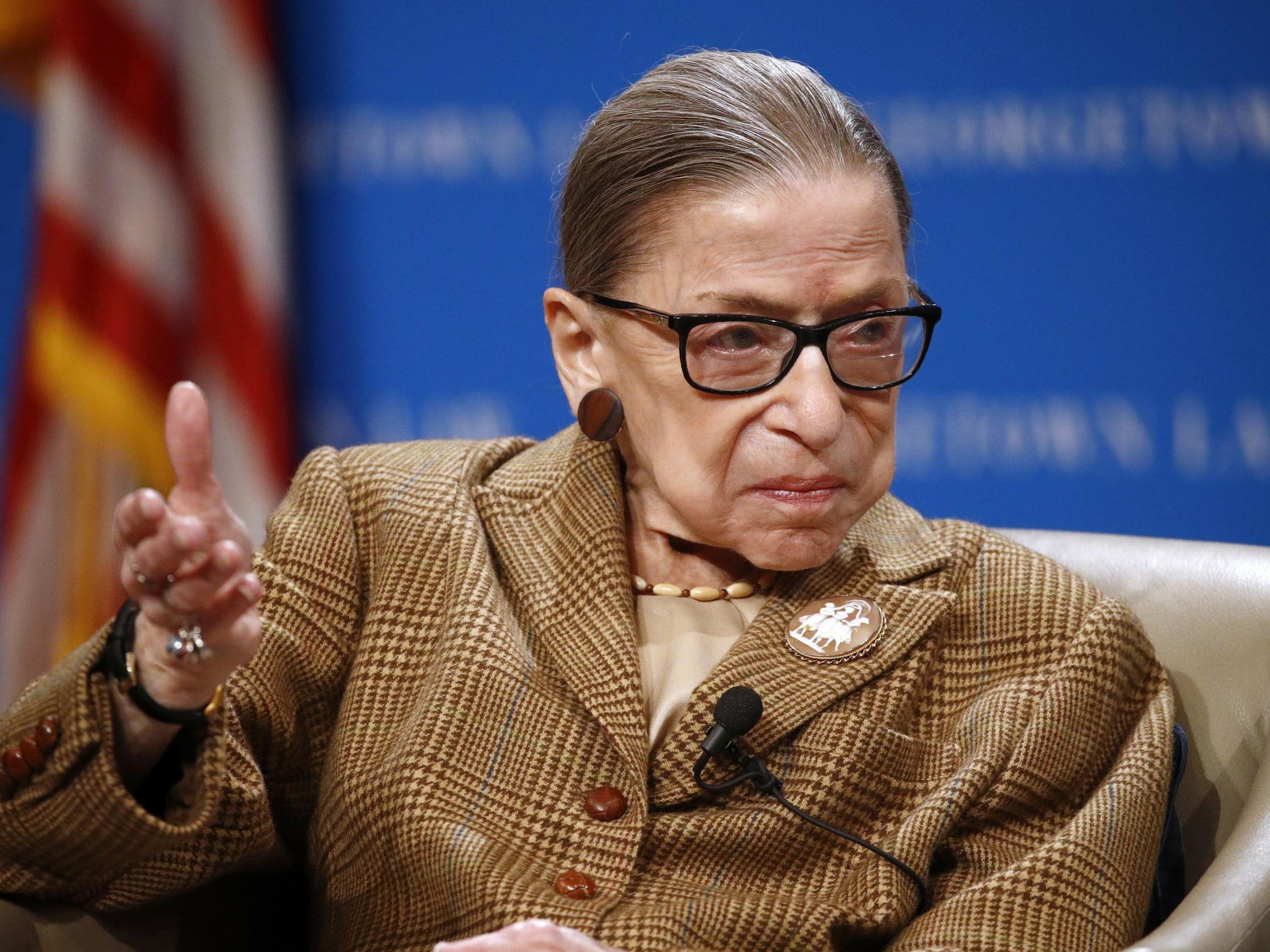 Ruth Bader Ginsburg challenges Trump's 'tossing to the wind' of Obamacare access to contraceptives – from hospital thumbnail
