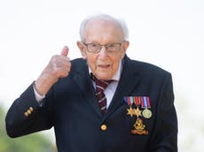 Captain Tom Moore recalls VE Day celebrations in 1945