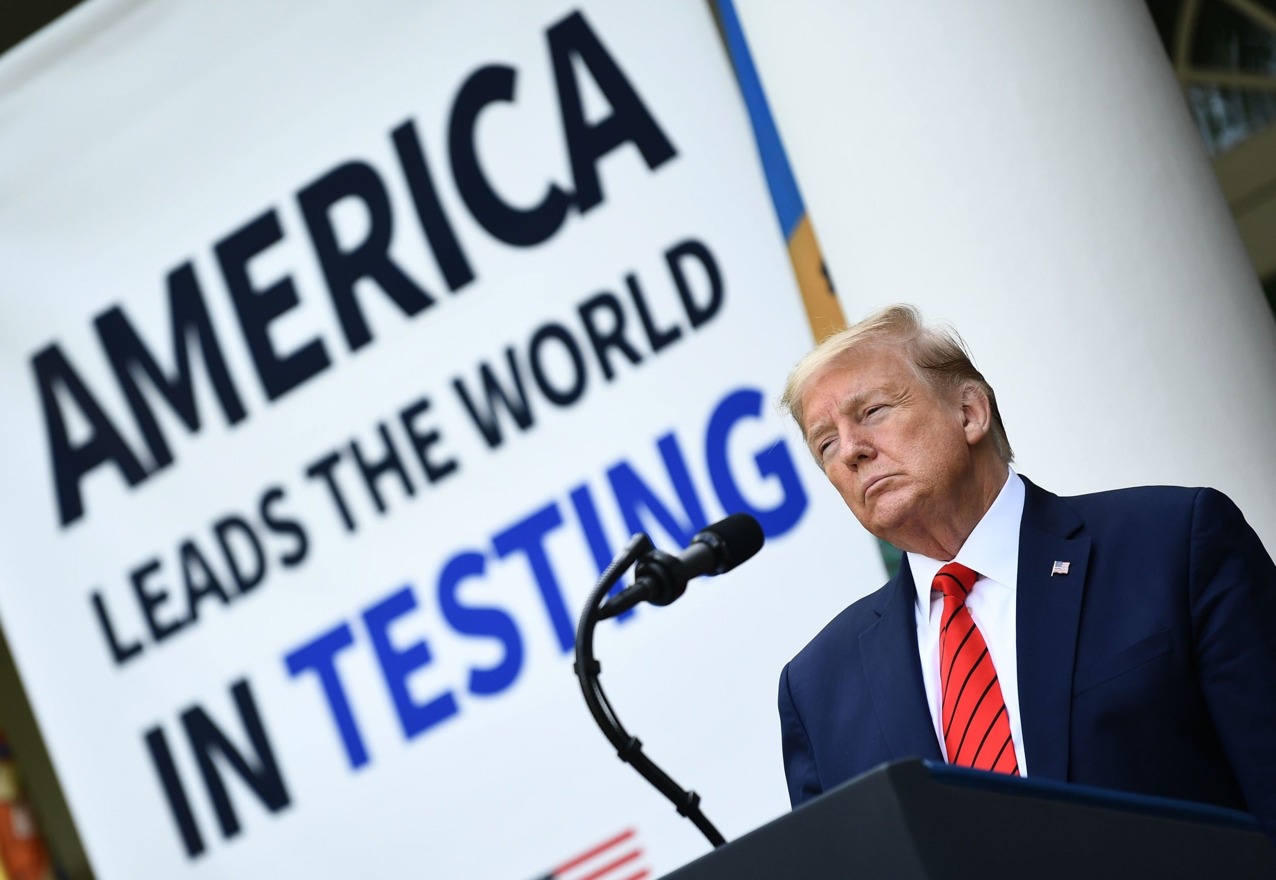 Trump news – live: President pressures California to let Elon Musk reopen Tesla factory, after storming out of press conference over spat with female reporters