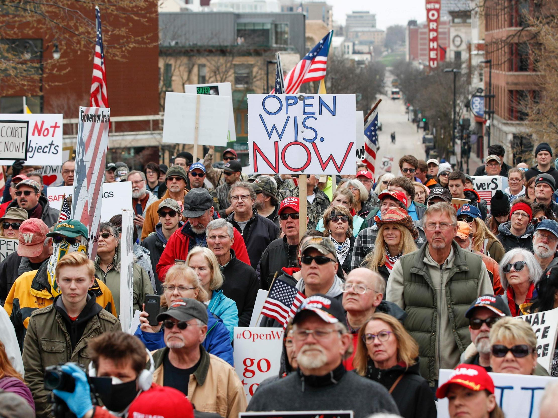 <b>72 people test positive for coronavirus after anti-lockdown protest in Wisconsin</b>