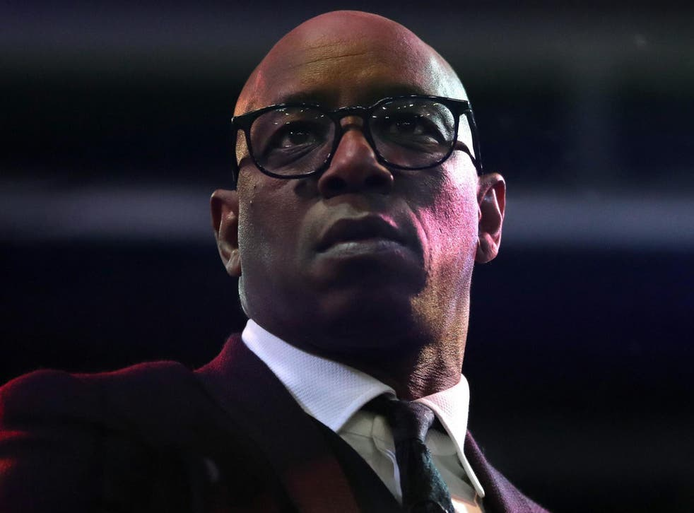 Ian Wright was subjected to racist abuse on social media on Monday