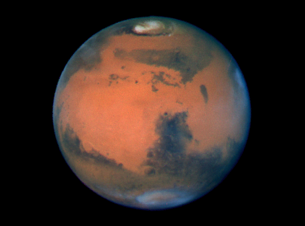 Almost all water on Mars today exists as ice.