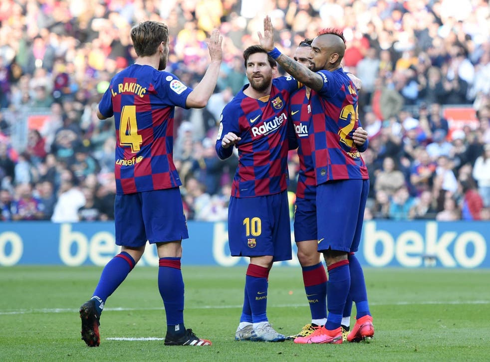 Lionel Messiand Barcelona will take on Real Mallorca as La Liga returns (Getty)
