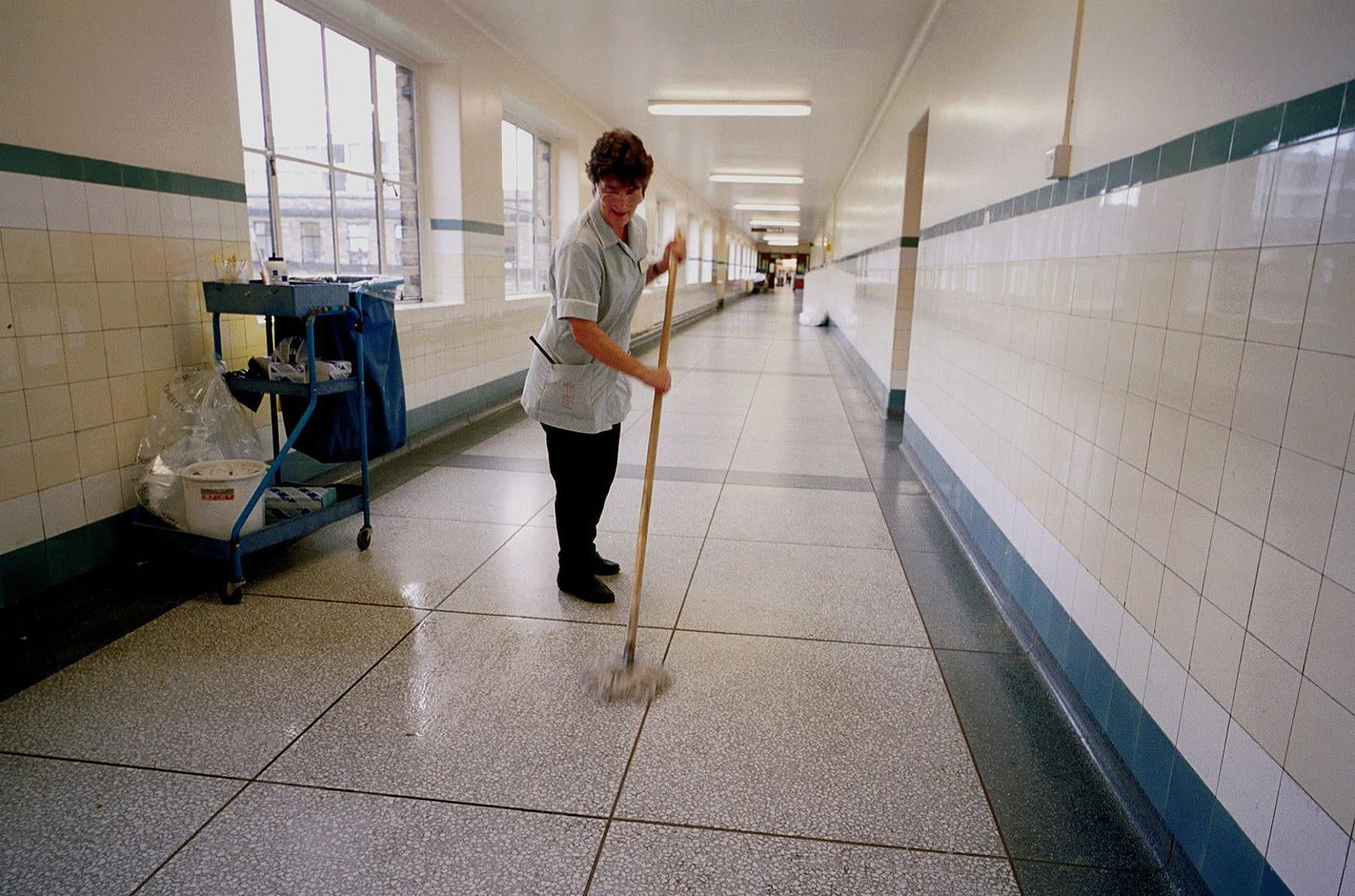 nhs hospital cleaner.'