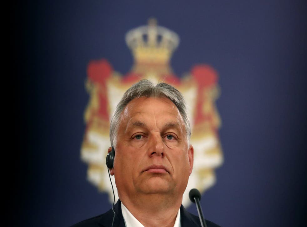 Prime Minister Viktor Orban leads Hungary's right-wing parliament