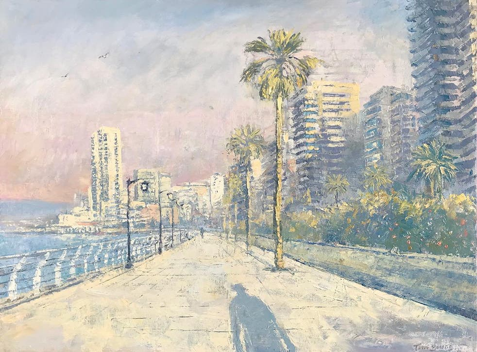 Tom Young's paintings often feature shadows