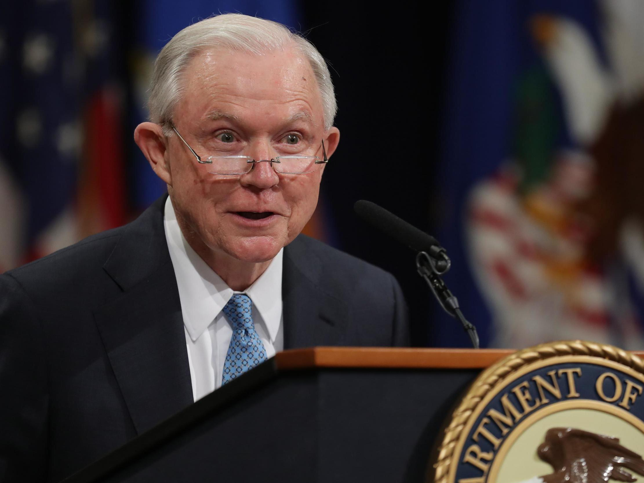 Trump's former attorney general Jeff Sessions hits back at president for endorsing his Senate rival
