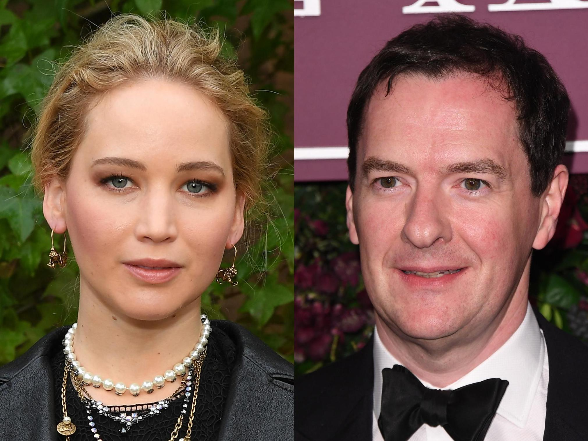 George Osborne claims he danced with 'normal-sized' Jennifer Lawrence at Oscars after-party