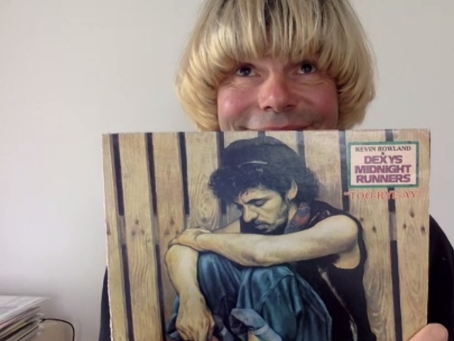 Tim Burgess with his vinyl copy of Dexys Midnight Runners – Too-Rye-Ay