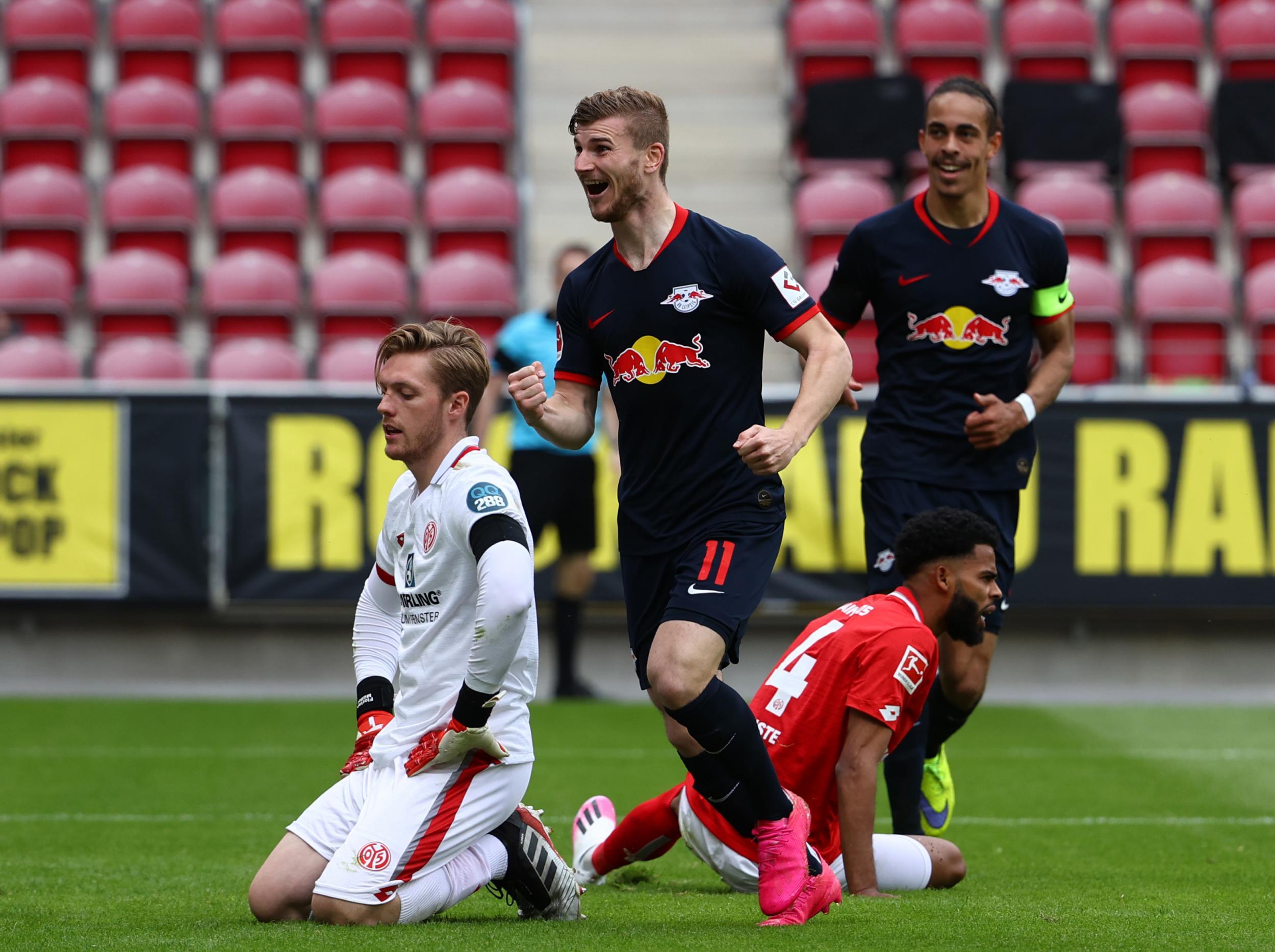 Bundesliga results: Timo Werner hits hat-trick for Leipzig while Schalke slump again