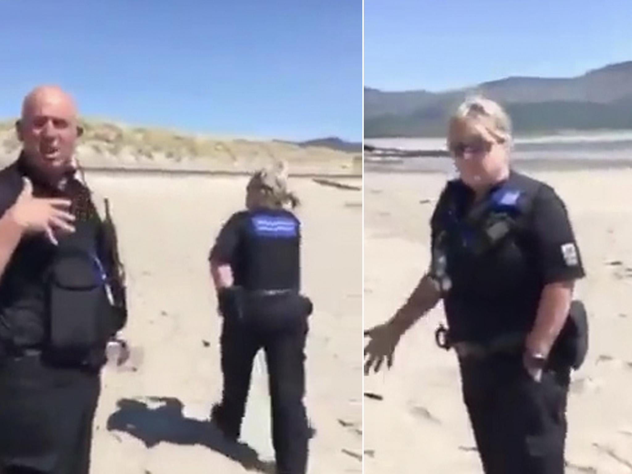 Woman stopped by police on Welsh beach claims she thought it was in England