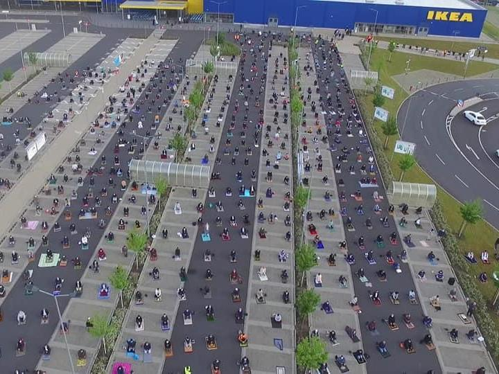 Ikea Germany gives up car park for 800 Muslims to perform Eid prayers safely