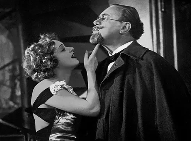 Marlene Dietrich and Emil Jannings in 'The Blue Angel'