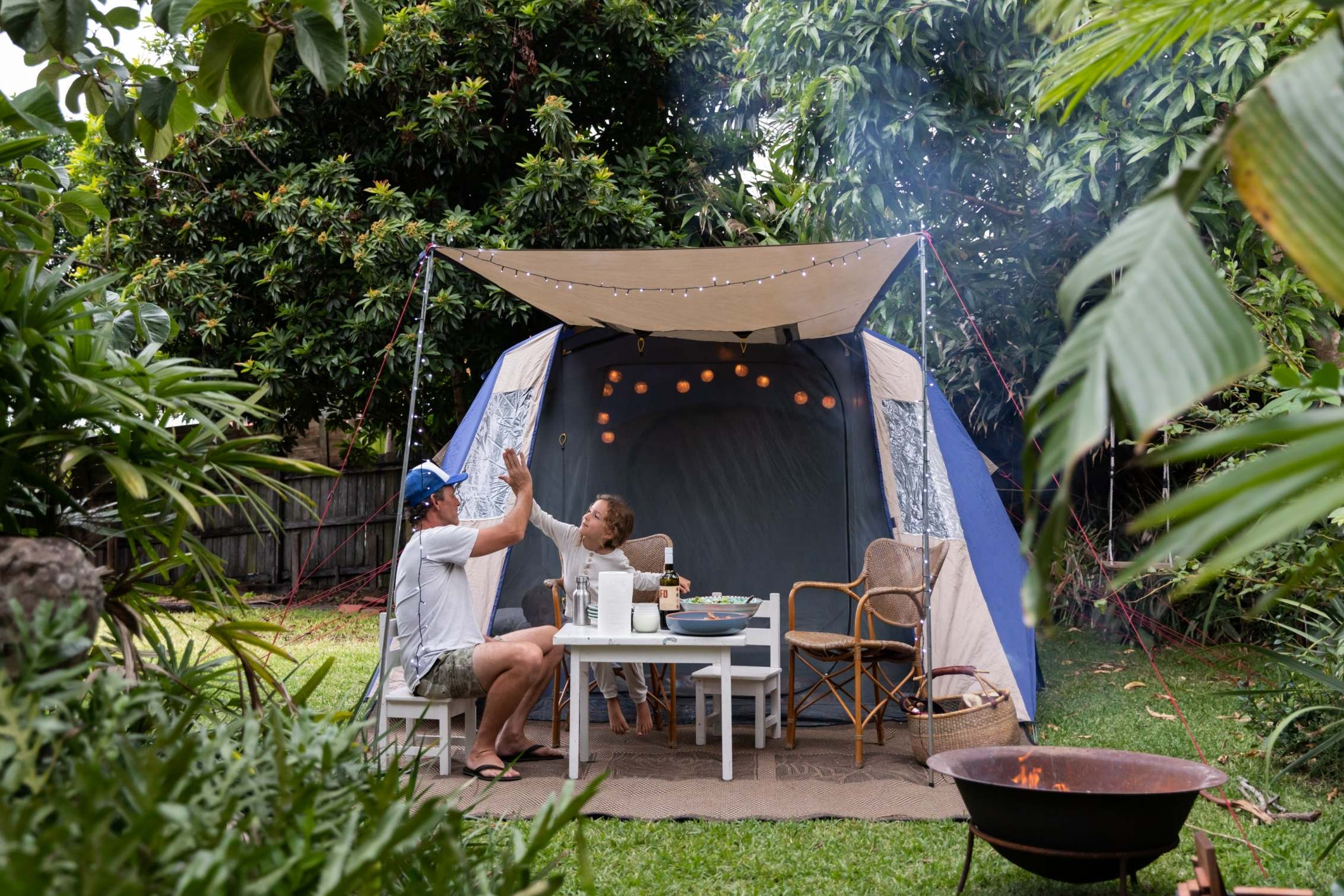 How to enjoy a camping trip in your own back garden