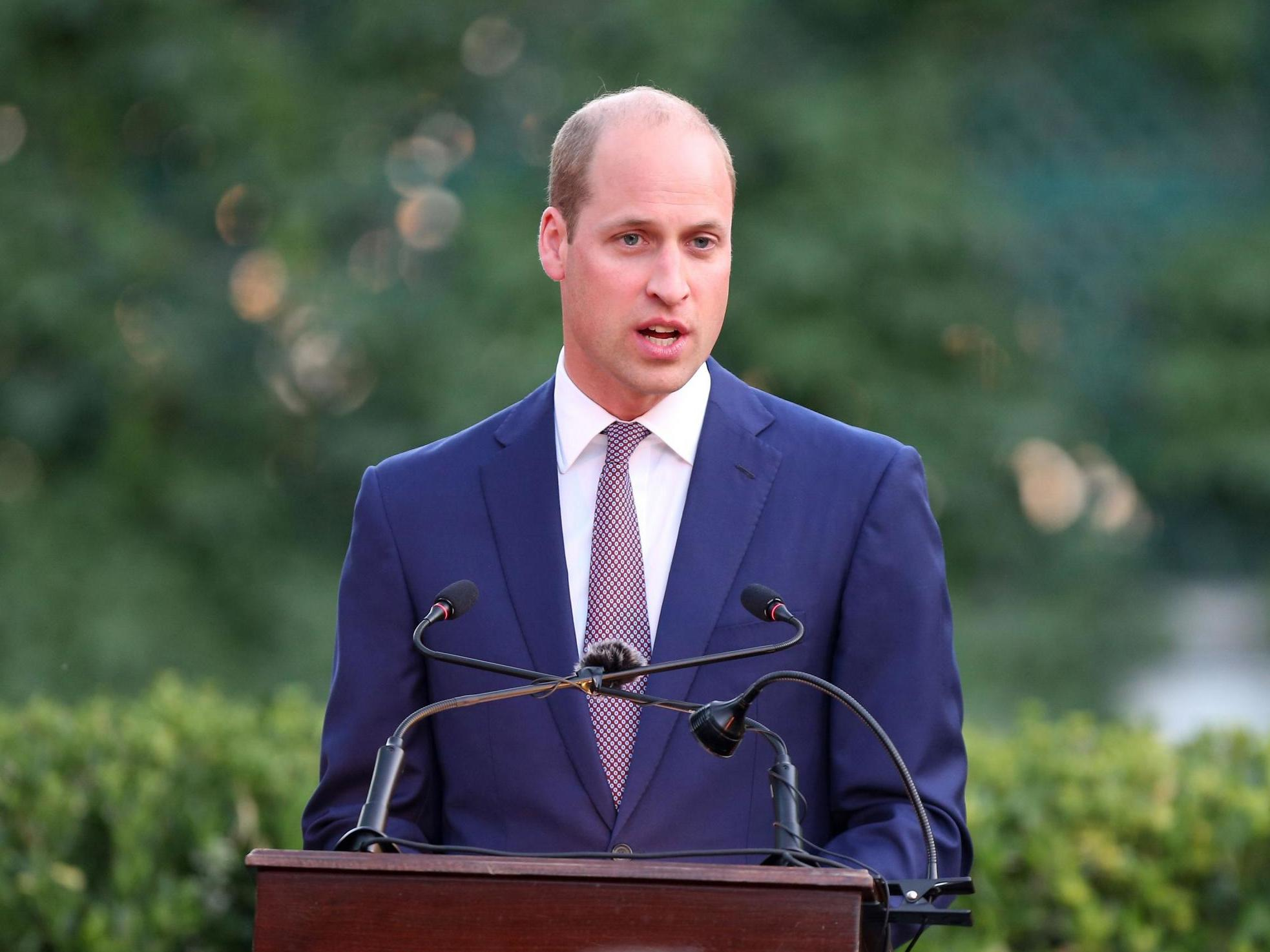 Prince William says poor eyesight helped him overcome anxiety when giving speeches