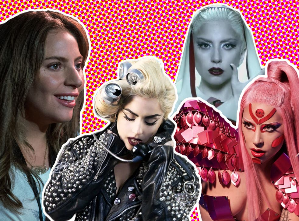 Lady Gaga in 'A Star Is Born' and her videos for 'Telephone', 'Alejandro' and 'Stupid Love'
