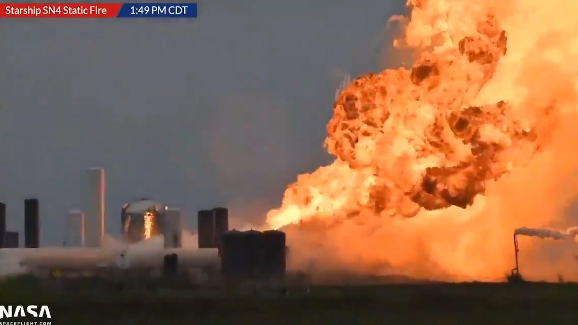 SpaceX Starship rocket explodes in dramatic fireball after test